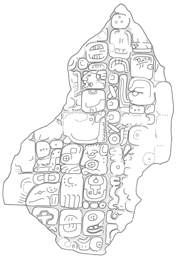 Akte, Stela 5, Fragment a, drawing