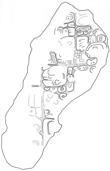 Akte, Stela 5, Fragment b, drawing