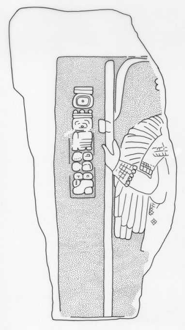 El Chal, Stela 1, drawing