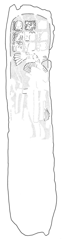 El Chal, Stela 5, drawing