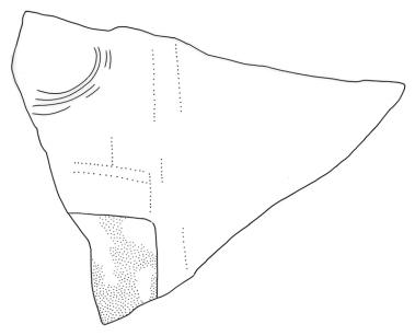 El Keej, Stela 1, Fragment d, drawing