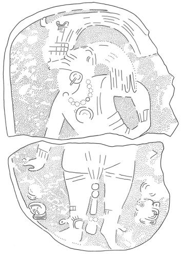 Itzimte, Stela 10, drawing