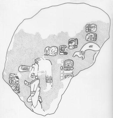 Itzimte, Stela 8, drawing