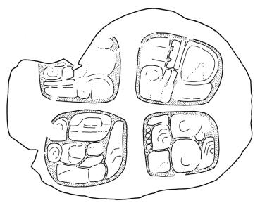 Ixkun, Altar 2, drawing