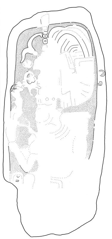 Ixkun, Stela 3, drawing