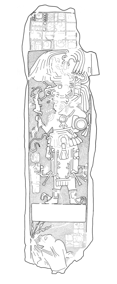 Ixkun, Stela 4, drawing