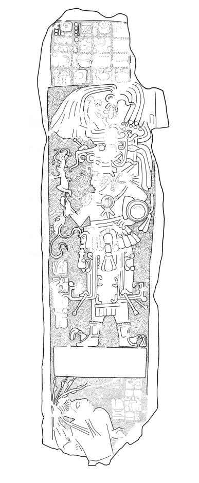 Ixkun, Stela 4, drawing