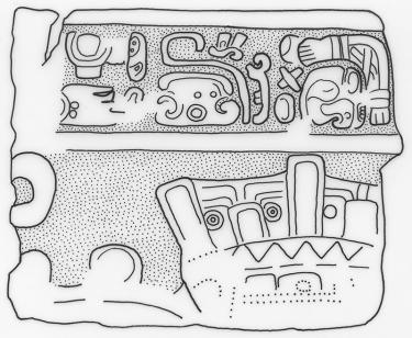 Ixtutz, Panel 2 Blocks, I, drawing