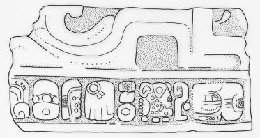 Ixtutz, Panel 2 Blocks, IV, drawing