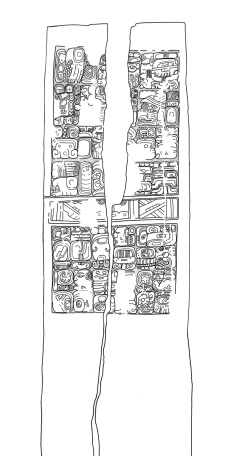 Sacul, Stela 1, drawing