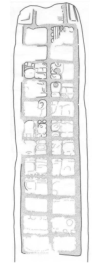 Sacul, Stela 10, drawing