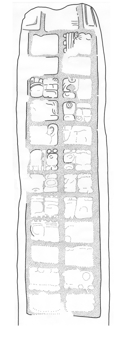 Sacul, Stela 10, drawing