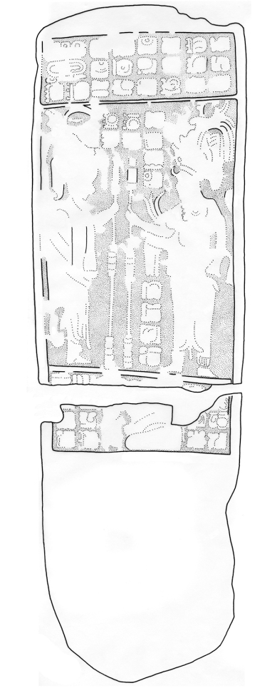 Sacul, Stela 2, drawing
