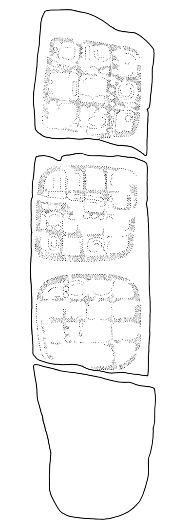 Sacul, Stela 3, drawing