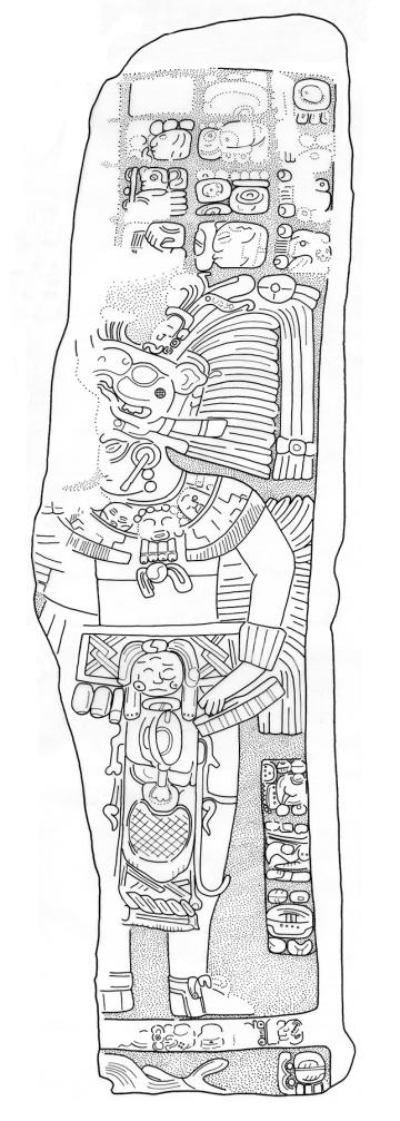 Sacul, Stela 9, drawing