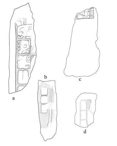 Sacul, stelae fragments, drawing