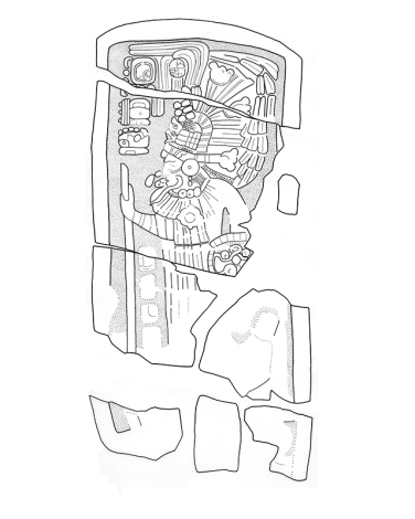 Sacul, Stela 6, drawing